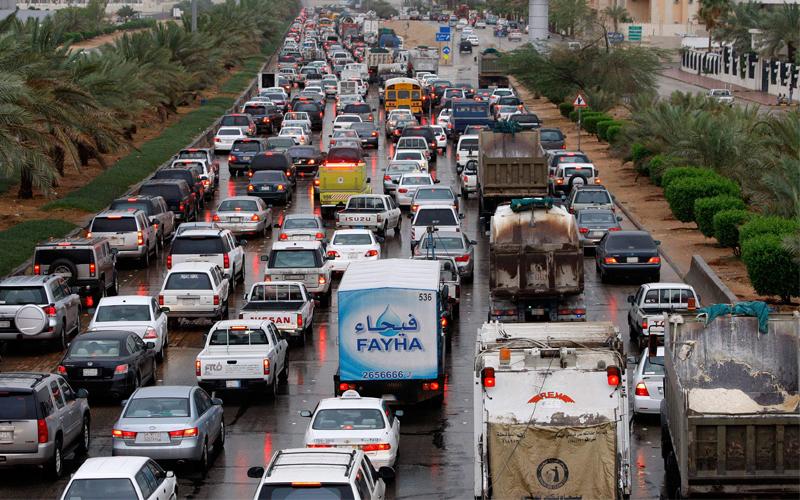نتيجة بحث الصور عن ازدحام شوارع الرياض