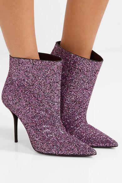 احذية براقة احدث صيحات الموضة في سهرات الخريف