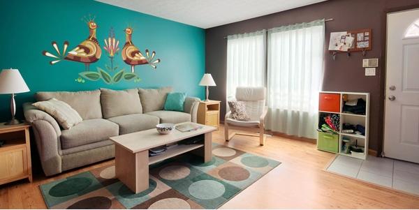 - Abbinamento colori pareti mobili noce ...