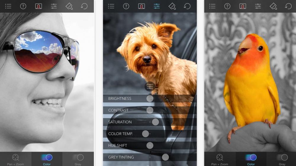 تطبيق ColorSplash لدمج الأبيض وأسود مع الألوان في صورة واحدة