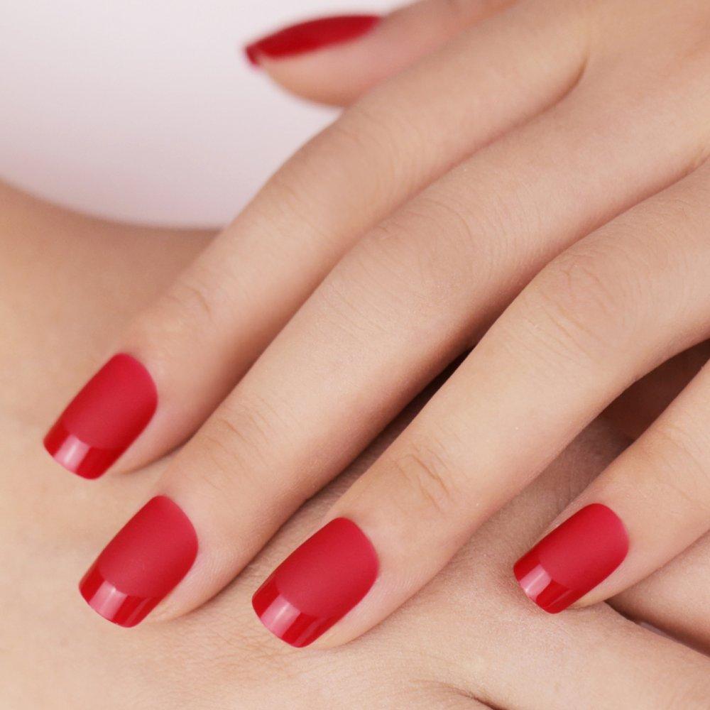 أشكال مناكير باللون الأحمر ليوم الحب مجلة هي