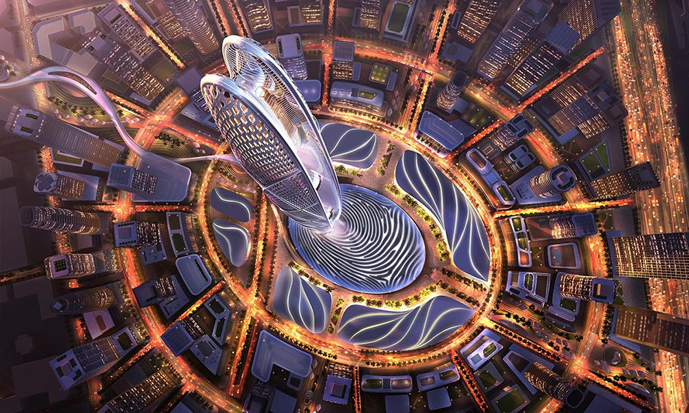 00a22c967 جديد دبي : برج مذهل ومنطقة داون تاون جميرا بتصميم فريد على شكل بصمة ...