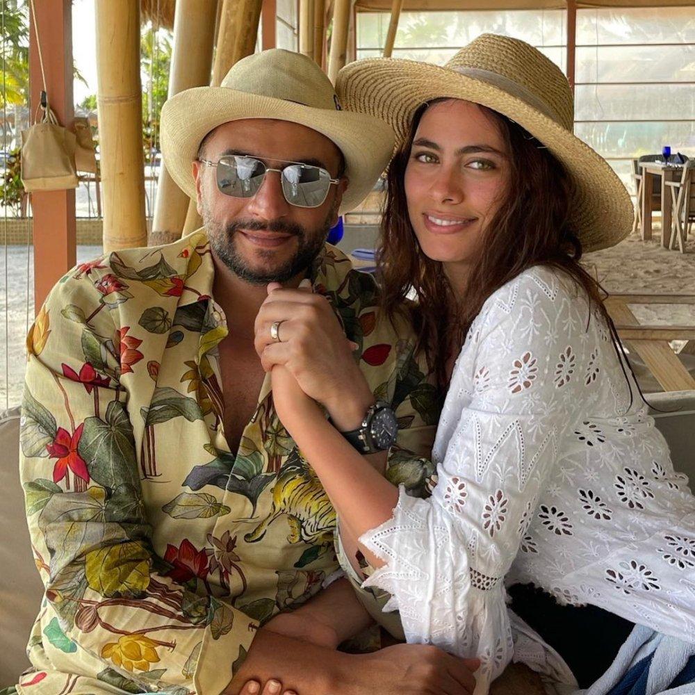 رومانسية هاجر أحمد وزوجها في شهر العسل في المالديف.. بالصور