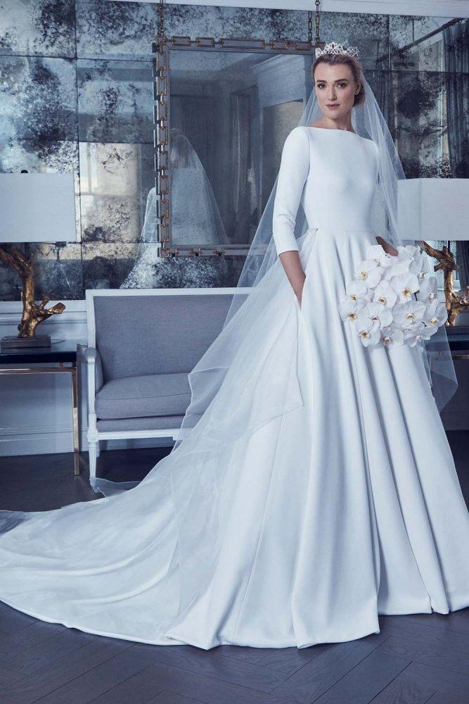 625c1645a فساتين زفاف محجبات محتشمة 2019 - مجلة هي