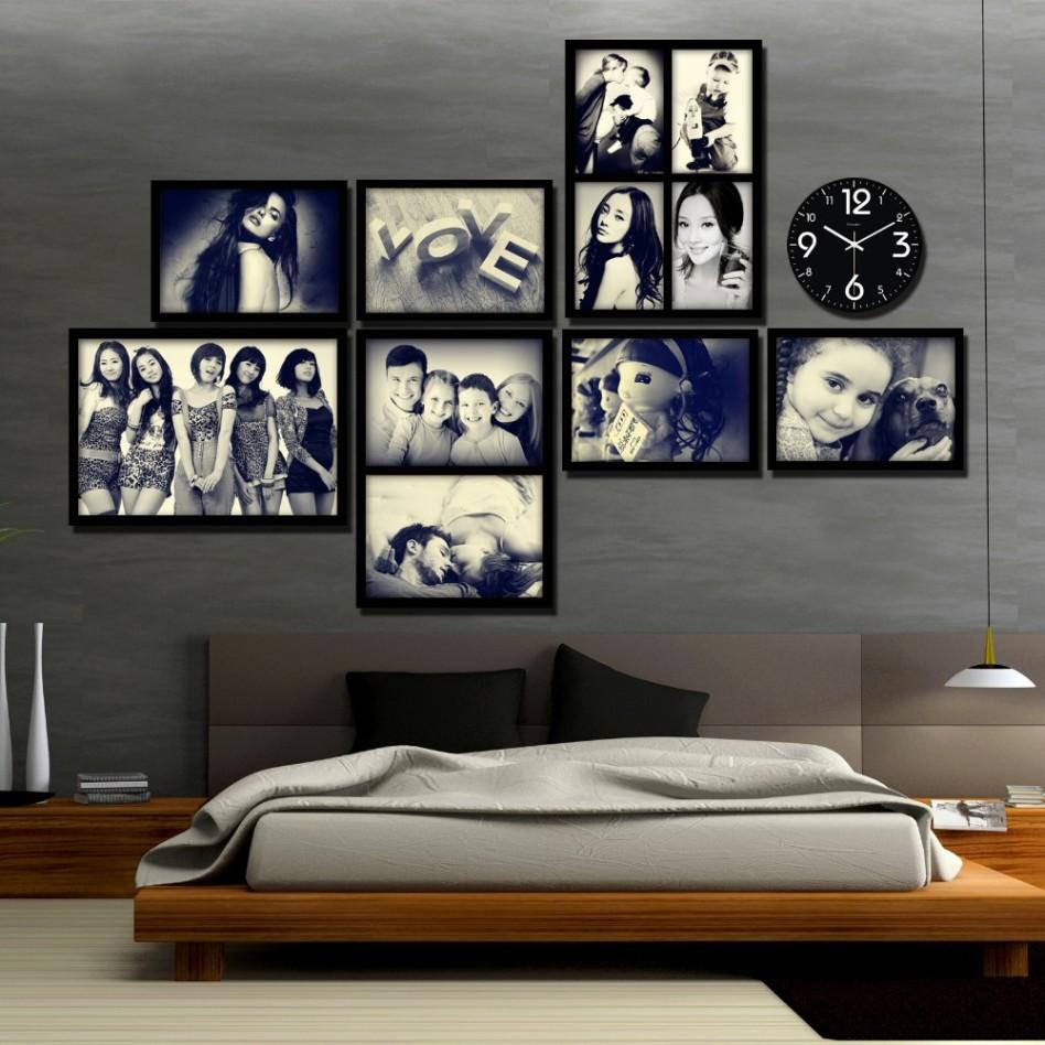 افكار لتغطية الجدران بالصور العائلية