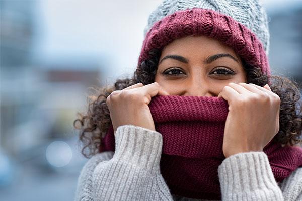 تغطية الأنف في الشتاء تقي من نزلات البرد