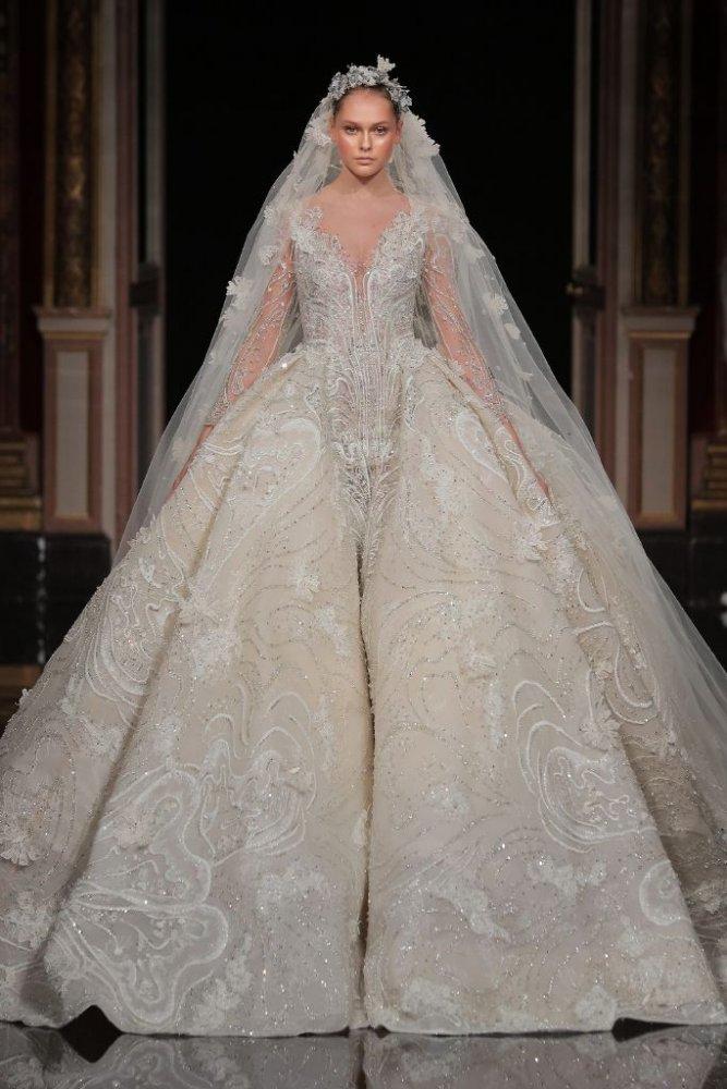 d0448b594 اجمل فساتين زفاف 2017 من الانستقرام - مجلة هي