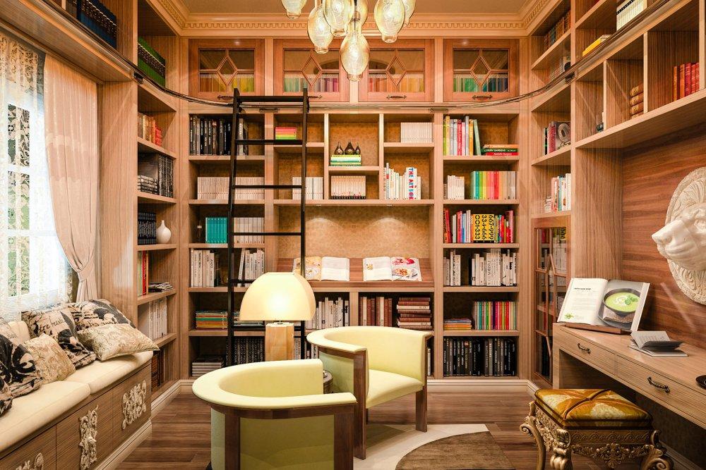 بالصور افكار لتصميم المكتبات المنزلية الحديثة 2017