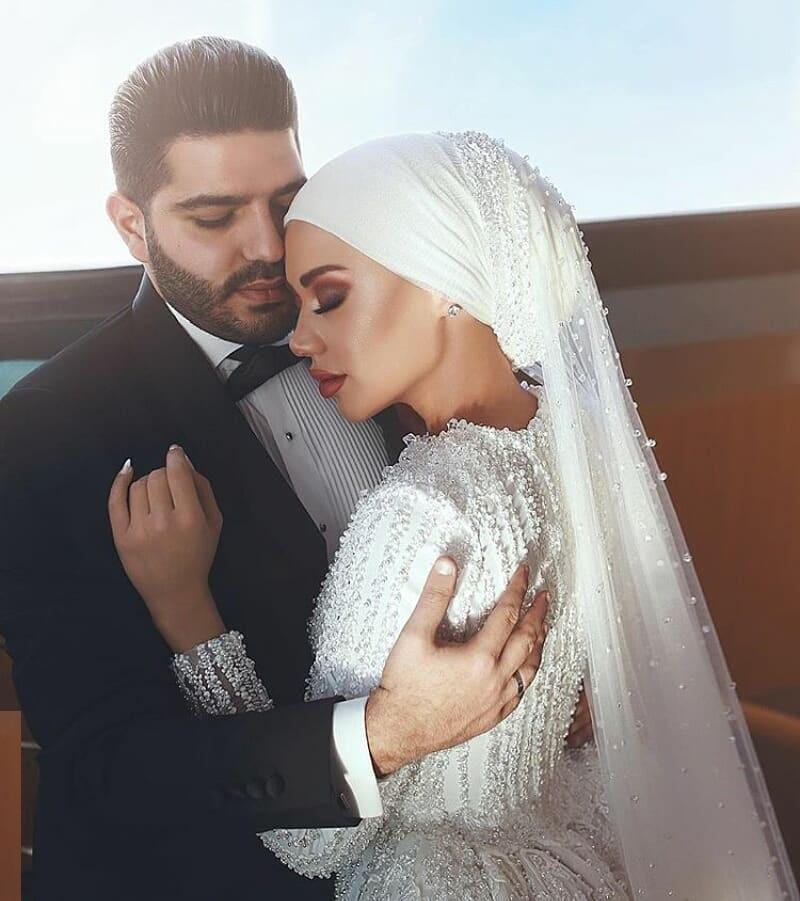 6818862cbd47b اشكال طرح للعروس المحجبة في يوم الزفاف - مجلة هي