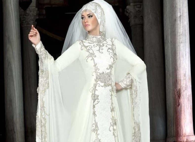 137bbd79e9f4f اشكال طرح للعروس المحجبة في يوم الزفاف - مجلة هي