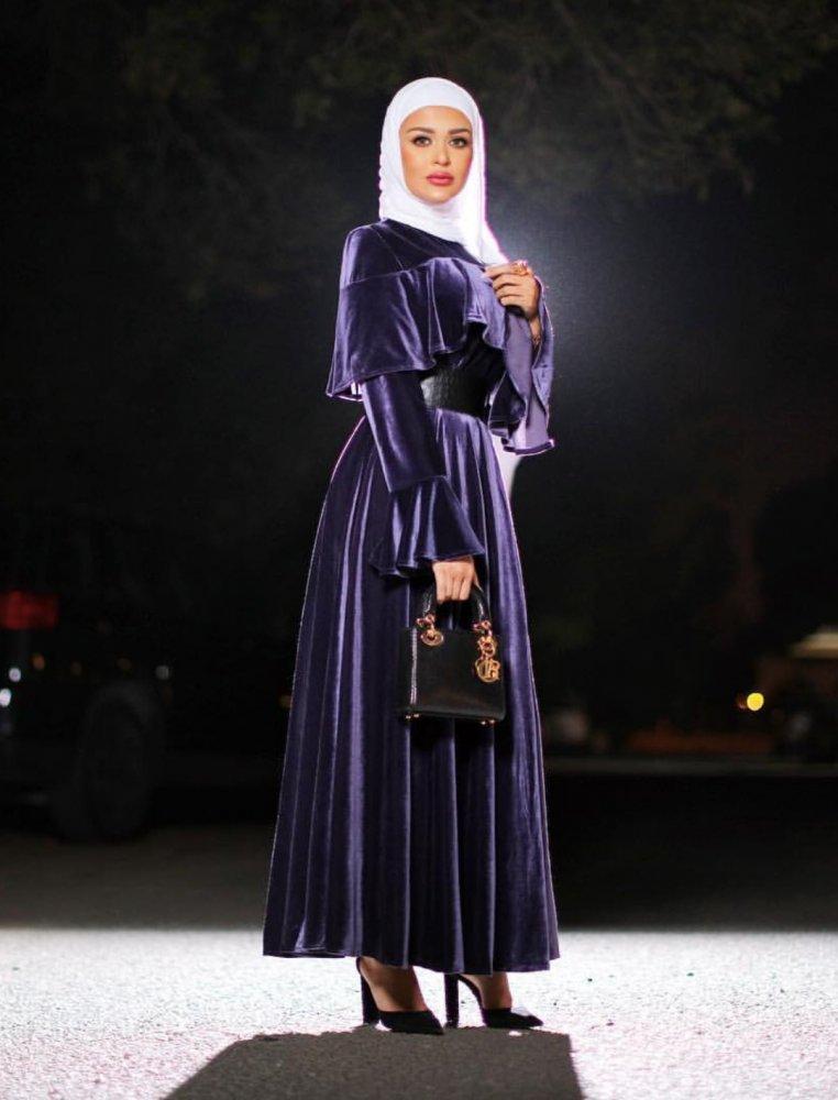 bd992a308fd6d ملابس محجبات لشتاء 2018 باسلوب مرمر - مجلة هي