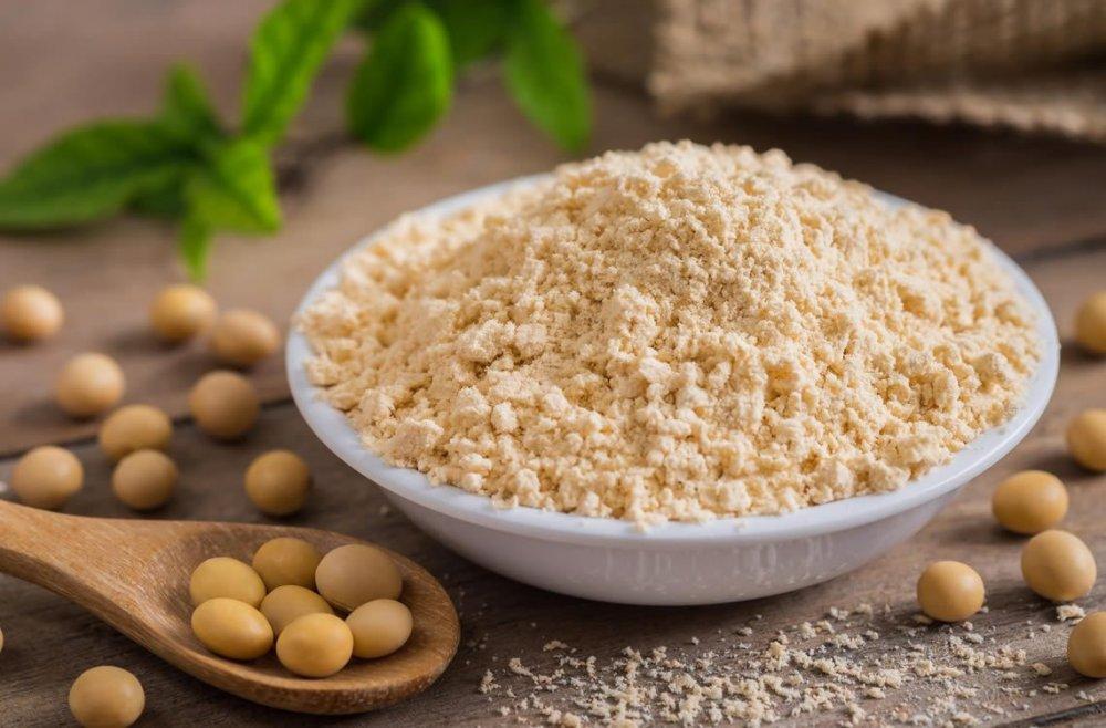 بروتين الصويا أو مصل اللبن