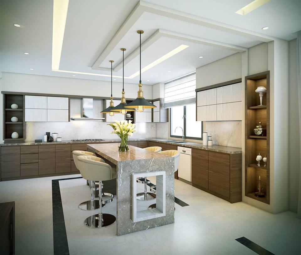 تصاميم أسقف جبس مودرن لديكورات المطبخ مجلة هي
