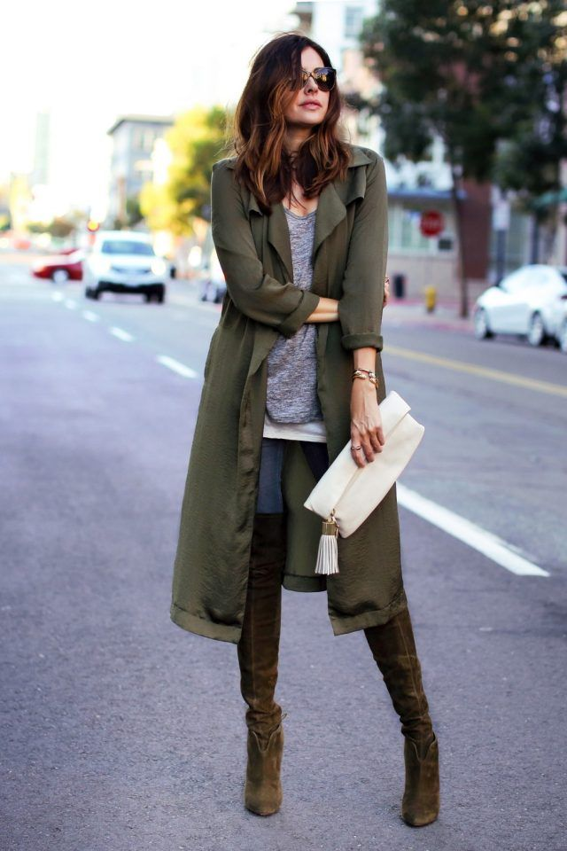 Lime green long coat
