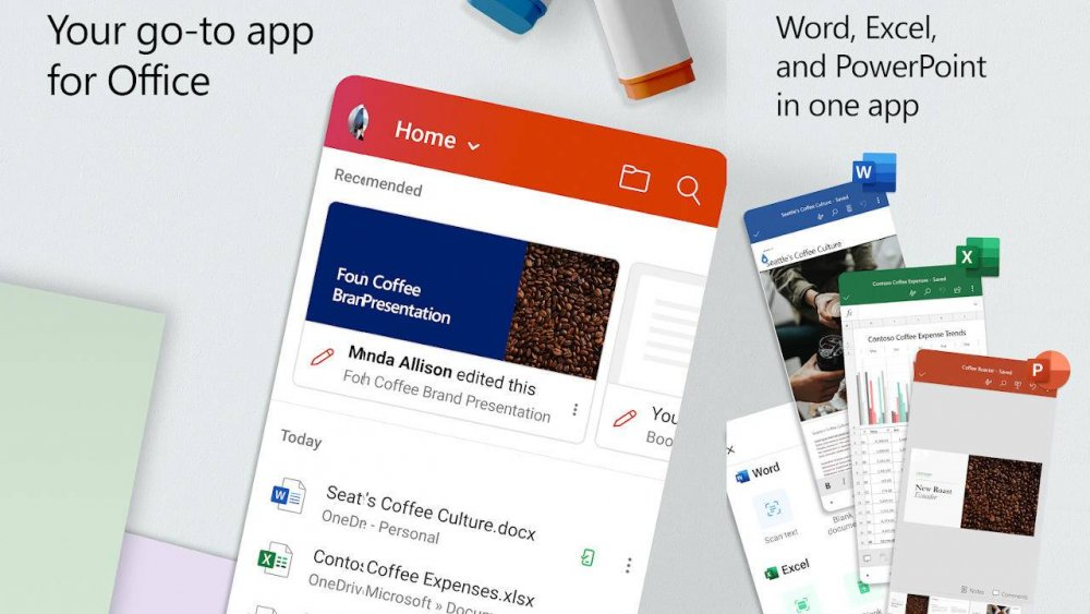 تطبيق مايكروسوفت أوفيس الموحد وصل لنظام اندرويد - مجلة هي