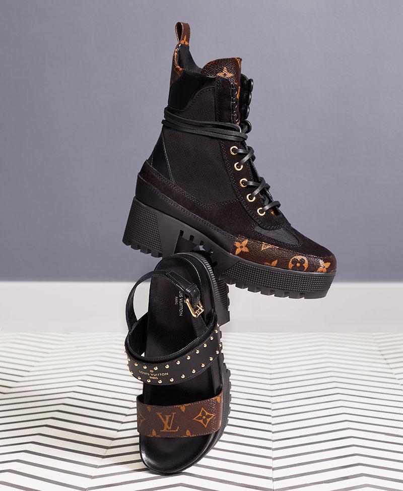 تألقي في موسم صيف 2018 بأحذية Louis Vuitton الأيقونية مجلة هي