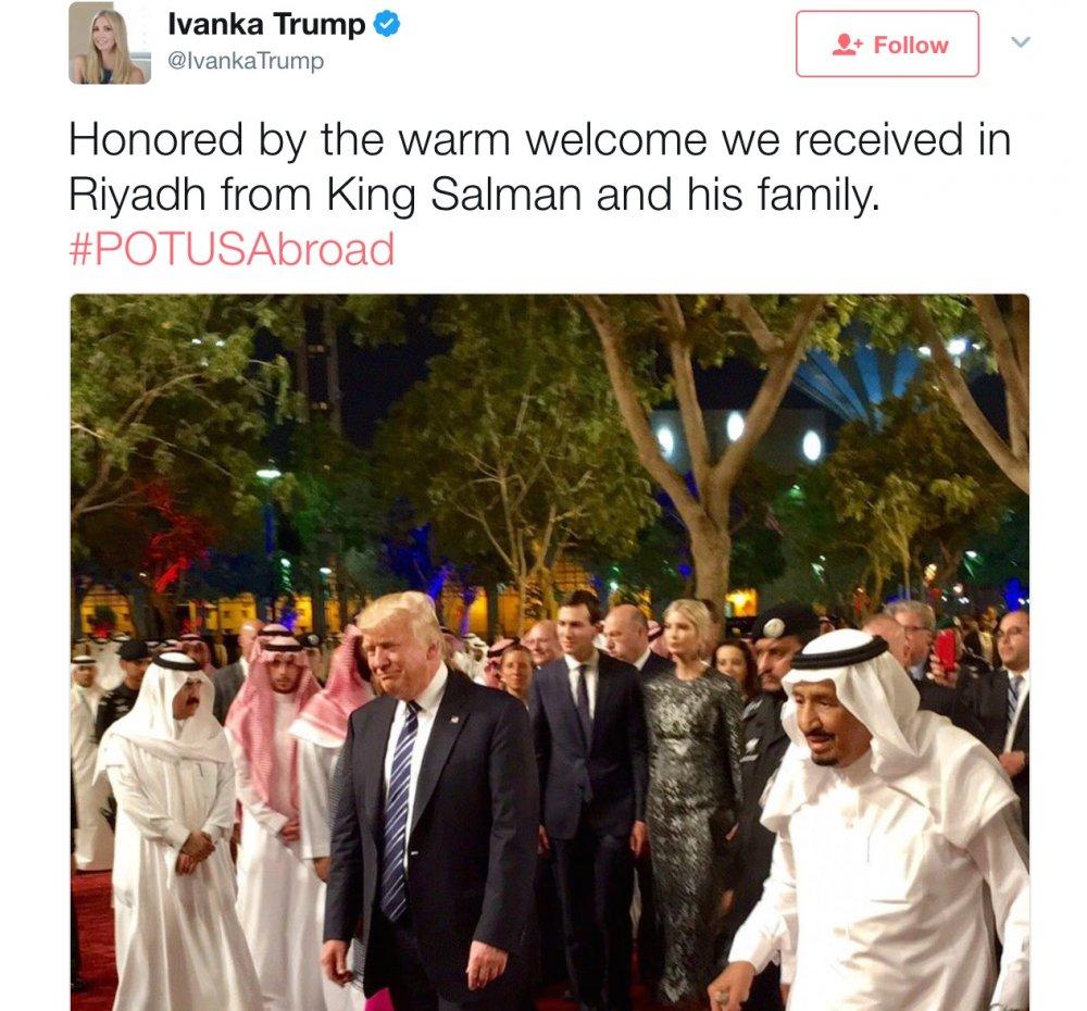 ايفانكا ترامب تتعلم هز فنجان القهوة وتحظى باهتمام السعوديين - مجلة هي