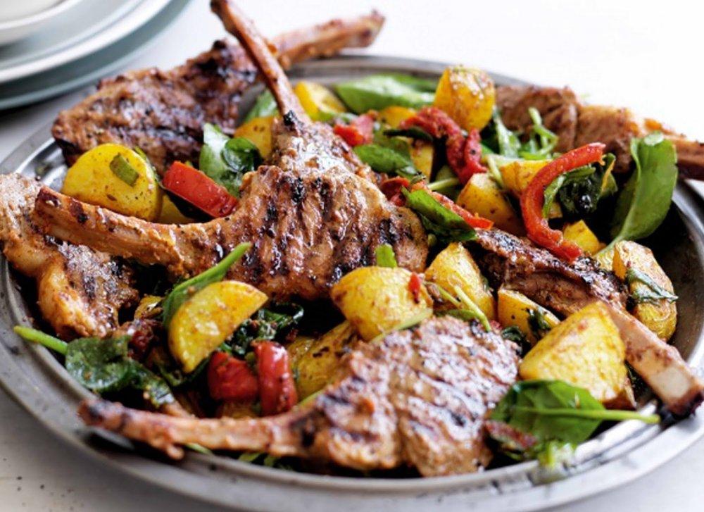 ريش بالخضروات من اكلات صحية دايت باللحم لعيد الاضحى