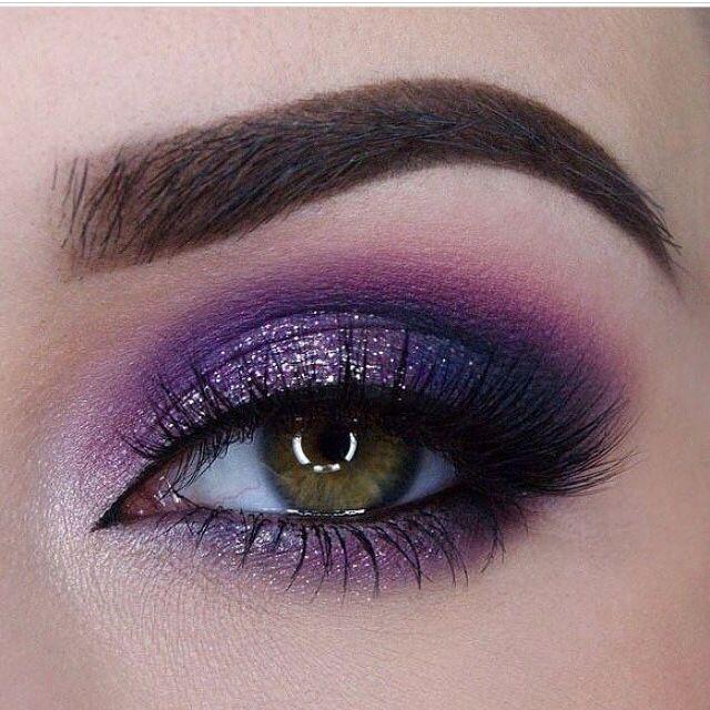 6c148ca9f7336 مكياج عيون باللون الموف والفضي للعروس - مجلة هي