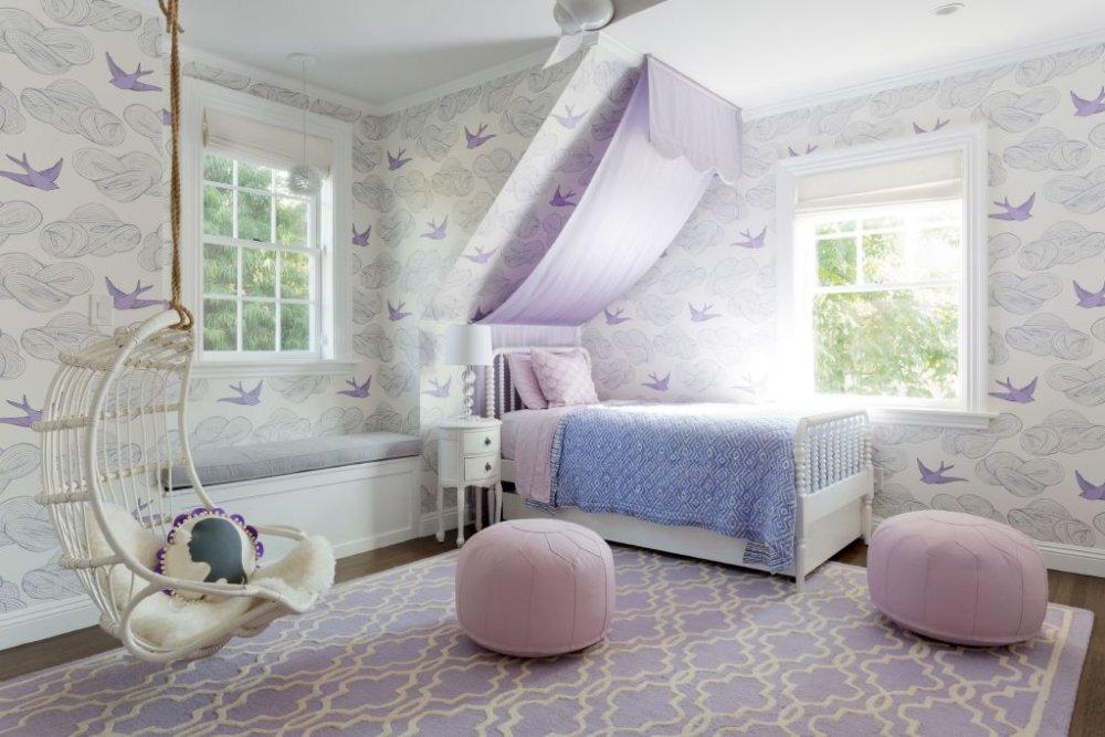 ديكورات غرف نوم بنات بألوان الباستيل الناعمة مجلة هي