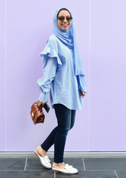 b86bb2889 ملابس محجبات كاجوال استوحيها من أبرز مدونات الموضة الشهيرات! - مجلة هي