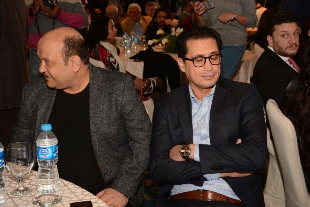 صور أحمد عيد يتعرض لموقف محرج فى مؤتمر خالد يوسف ويهدد بالانسحاب