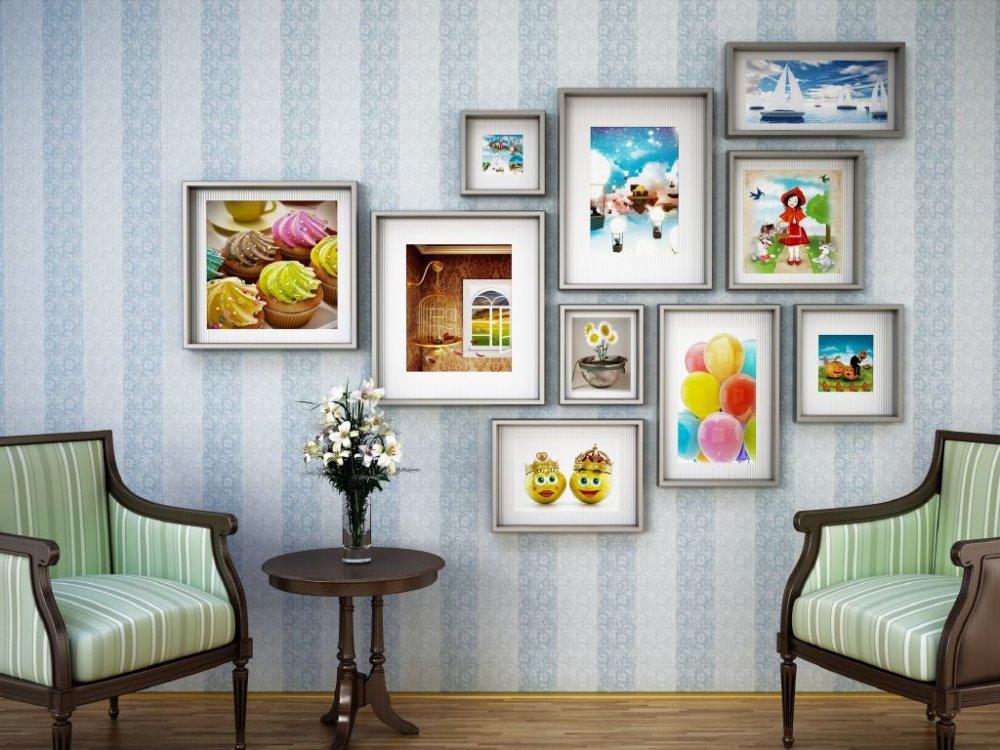 أفكار لتزيين الجدران بالصور