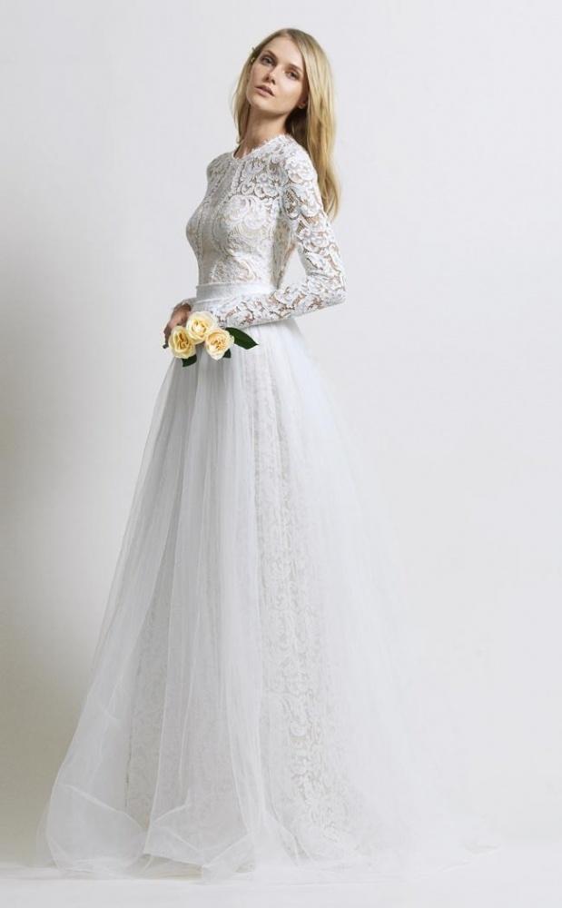a67126cce34fd فساتين زفاف Christos Costarello... أناقة حالمة - مجلة هي