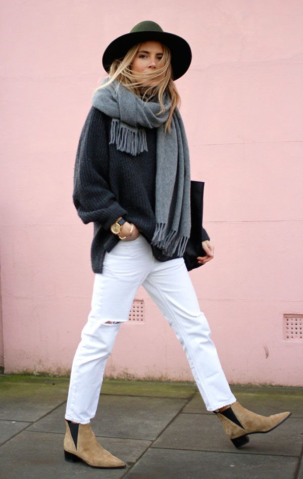 Best 25 White Jeans Winter Ideas On Grey Boots Coats And Autumn Fashion Classy