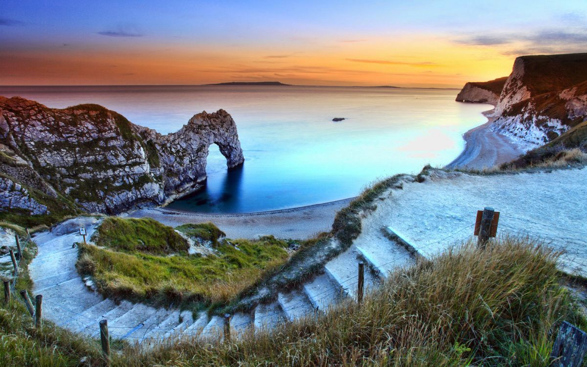 Durdle Door Beach, Dorset, England