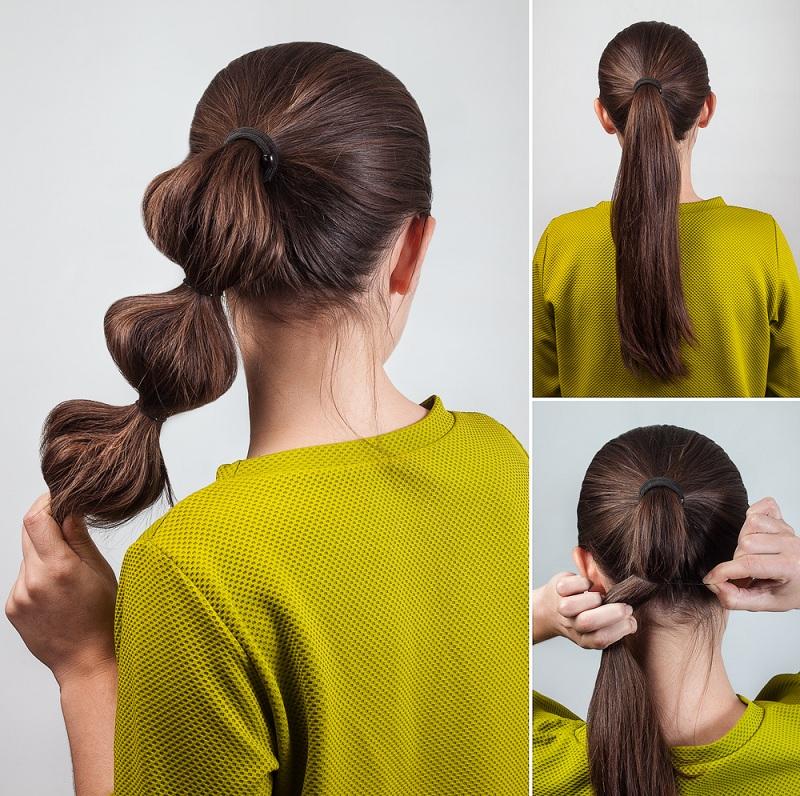 e9214c5ef2d8a خطوات عمل تسريحات شعر بسيطة..بالصور - مجلة هي