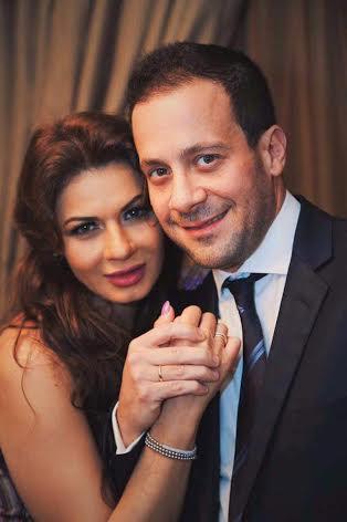 نجلاء بدر وزوجها