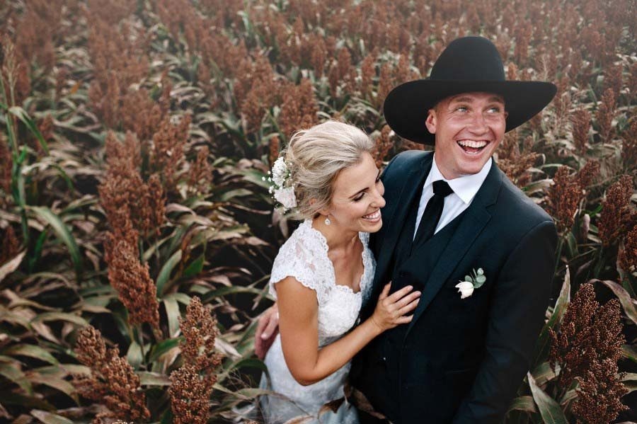 Country or farm wedding