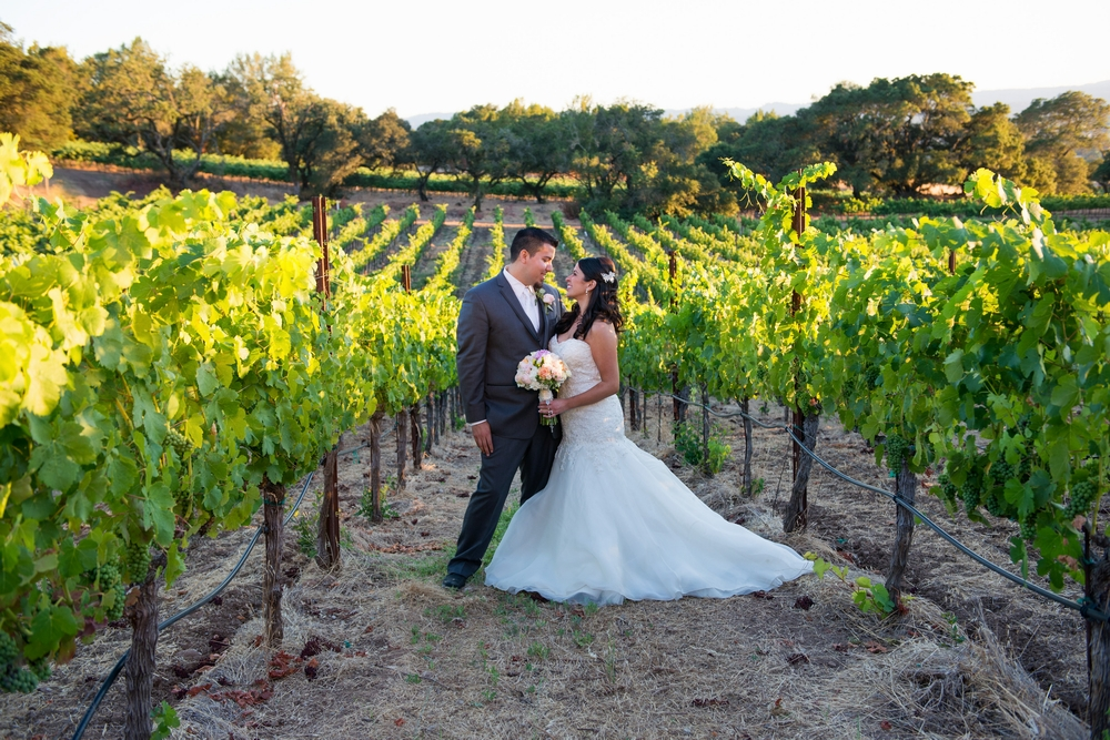 Romantic vineyard wedding