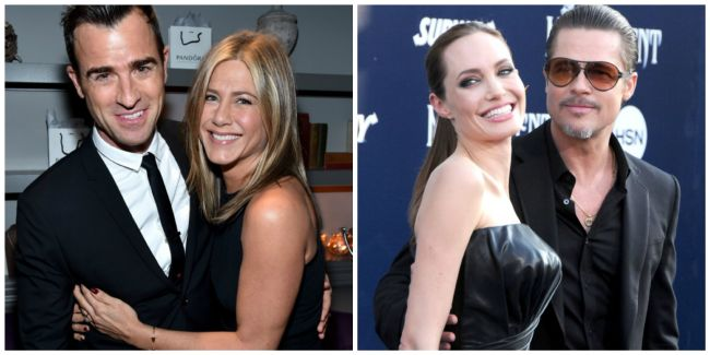 Brad Pitt is divorcing Angelina Jolie, and Jennifer Aniston and Justin Theroux