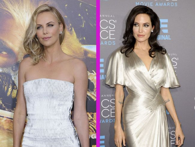 Angelina Jolie and Charlize Theron